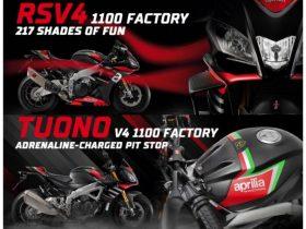 【新車】アプリリア、新型「RSV4 1100 Factory」「Tuono V4 1100 Factory」を発売