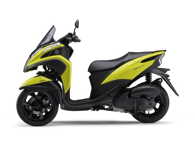 Yamaha ra mắt Tricity 125 ABS 2021 với phiên bản vàng đẹp mắt